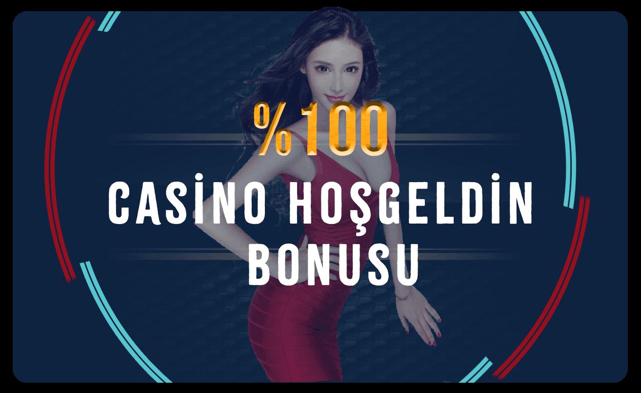 %100 Casino Hoş Geldin Bonusu...